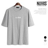 뉴비스 - L-IFE 나염 오버핏 반팔 티셔츠 (SM031TS)
