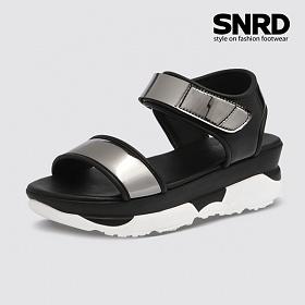 [SNRD 여성 6cm 키높이 메탈샌들] SN241 블랙