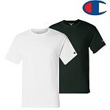 Champion T425 short sleeve T-shirt (BLACK / WHITE) 무지 라운드 반팔티 정품 국내배송