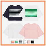 [리플라이퍼키]RE FLY PERKY [WOMEN]오버핏 크롭 티셔츠 모음 (6color) 반팔티