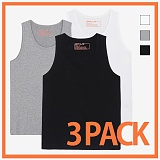 [리플라이퍼키]RE FLY PERKY [1+1+1][3pack/UNISEX]스탠다드 레이어드 민소매 티셔츠 (3color) 나시티