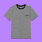 [superlative] 슈퍼레이티브 - 포켓 단가라 반팔 티셔츠 - 반팔 티셔츠 - 블랙
