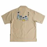 [로맨틱크라운]ROMANTIC CROWN 단오풍정 Souvenir shirts_Beige 반팔셔츠 반팔남방
