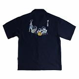 [로맨틱크라운]ROMANTIC CROWN 단오풍정 Souvenir shirts_Navy 반팔셔츠 반팔남방