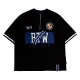 [로맨틱크라운]ROMANTIC CROWN RTW Zip up T shirt_Black 반팔티 티셔츠