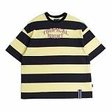 [로맨틱크라운]ROMANTIC CROWN Tropical Night Stripe T shirt_Navy 반팔티 티셔츠