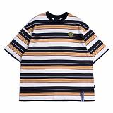 [로맨틱크라운]ROMANTIC CROWN Multi Stripe T shirt_Navy 반팔티 티셔츠