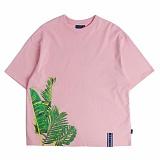 [로맨틱크라운]ROMANTIC CROWN Tropical Wide T shirt_Pink 반팔티 티셔츠
