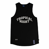 [로맨틱크라운]ROMANTIC CROWN Tropical Night Sleeveless_Black 나시티 슬리브리스