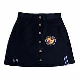 [로맨틱크라운]ROMANTIC CROWN Day off button skirt_Navy 스커트 치마
