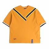 [로맨틱크라운]ROMANTIC CROWN Band Line T shirt_Mustard 반팔티 티셔츠