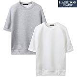 [해리슨] 네오프렌 절개 디테일 반팔 티셔츠 CS1290