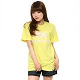 슈퍼크록 - 컬러 레이스 로고 티셔츠 라임