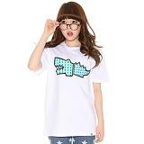 슈퍼크록 - 패턴 크록 클래식 티셔츠 화이트