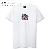 [엠블러]AMBLER 신상 자수 반팔 티셔츠 AS420-화이트