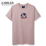 [엠블러]AMBLER 신상 자수 반팔 티셔츠 AS420-다크핑크