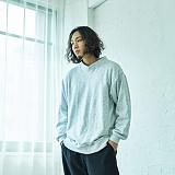 [2TO4]이투포 밴드 넥 맨투맨(WHITE GRAY) 크루넥 스��셔츠