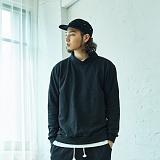 [2TO4]이투포 밴드 넥 맨투맨(블랙) 크루넥 스��셔츠