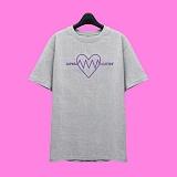[슈퍼레이티브] superlative - [7SMH04] LOVE VIBRATION 반팔 티셔츠 - 반팔 티셔츠 - 그레이