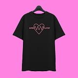 [슈퍼레이티브] superlative - [7SMH04] LOVE VIBRATION 반팔 티셔츠 - 반팔 티셔츠 - 블랙