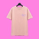 [슈퍼레이티브] superlative - [SST323] 하트비트 반팔 티셔츠 - 반팔 티셔츠 - 핑크