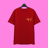 [슈퍼레이티브] superlative - [SST323] 하트비트 반팔 티셔츠 - 반팔 티셔츠 - 레드