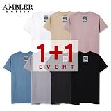 ★단독 1+1★[엠블러]AMBLER 신상 무지 티셔츠 7 COLOR - MM101 반팔티