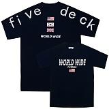 [파이브데크]5U-165 WORLD WIDE USA  반팔 티셔츠