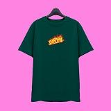 [슈퍼레이티브] superlative - [SST335] FIRE LOGO 반팔 티셔츠 - 반팔 티셔츠 - 그린
