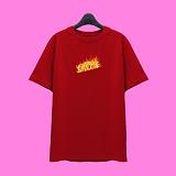 [슈퍼레이티브] superlative - [SST335] FIRE LOGO 반팔 티셔츠 - 반팔 티셔츠 - 레드