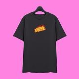 [슈퍼레이티브] superlative - [SST335] FIRE LOGO 반팔 티셔츠 - 반팔 티셔츠 - 다크그레이
