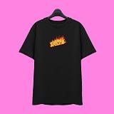 [슈퍼레이티브] superlative - [SST335] FIRE LOGO 반팔 티셔츠 - 반팔 티셔츠 - 블랙