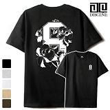 [DISCENE]디씬 8FLOWER 루즈핏 반팔 티셔츠 - 5color