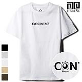 [DISCENE]디씬 EYE CONTACT 루즈핏 반팔 티셔츠 - 5color