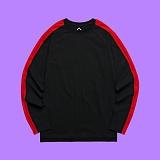 [슈퍼레이티브] superlative - [S] 핫 라인 긴팔 티셔츠 - 긴팔 티셔츠 - 블랙레드