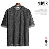 뉴비스 - 롤업 보카시 라운드 반팔 티셔츠 (RM091TS)