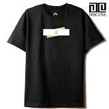 [DISCENE]디씬 TWO BAR MODERN 루즈핏 반팔 티셔츠 - BLACK