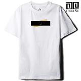 [DISCENE]디씬 TWO BAR MODERN 루즈핏 반팔 티셔츠 - WHITE
