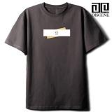 [DISCENE]디씬 TWO BAR MODERN 루즈핏 반팔 티셔츠 - DARKGRAY