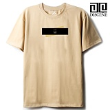 [DISCENE]디씬 TWO BAR MODERN 루즈핏 반팔 티셔츠 - BEIGE