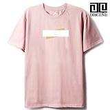 [DISCENE]디씬 TWO BAR MODERN 루즈핏 반팔 티셔츠 - PINK