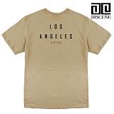 [DISCENE]디씬 LOSANGELES 네츄럴 반팔 티셔츠 BEIGE