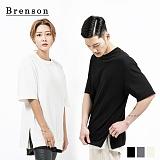 [1+1]브렌슨 - 루즈핏 소프트워싱 사이드 트임 지퍼 티셔츠