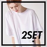 [프로젝트624]PROJECT624 [1+1] 소매 러플 슬리브 티셔츠(2컬러) 반팔티