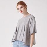 [프로젝트624]PROJECT624 [WOMEN] 프릴 헴 슬리브 크롭 티셔츠(그레이) 반팔티