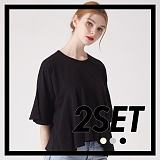 [프로젝트624]PROJECT624 [1+1] 프릴 헴 슬리브 크롭 티셔츠(3컬러) 반팔티
