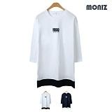 [모니즈] 런던 레이어드 나그랑 7부 티셔츠 (2color) TSL520