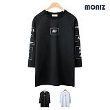 [모니즈] 뉴욕 나그랑 7부 티셔츠 (2color) TSL519