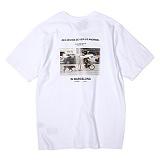 [앱놀머씽] Barcelona T-Shirt (White) 반팔티셔츠