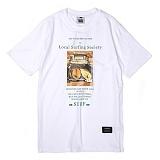 [앱놀머씽] Local Surfing T-Shirt (White) 반팔티셔츠
